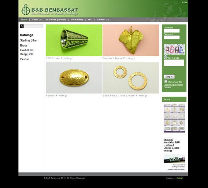 שדרוג לאתר האינטרנט של בן בסט תכשיטים - Mcpublish