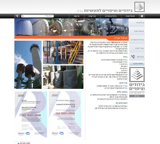 בידודים, עיצוב ובניית אתר חדש - Mcpublish