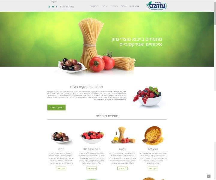 עיצוב ובניית אתר תדמית לחברת עוז עסקים